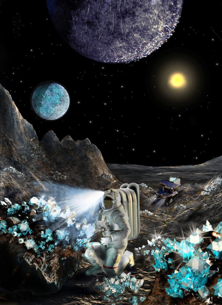 Yüzyi elmas olan bir gezegen