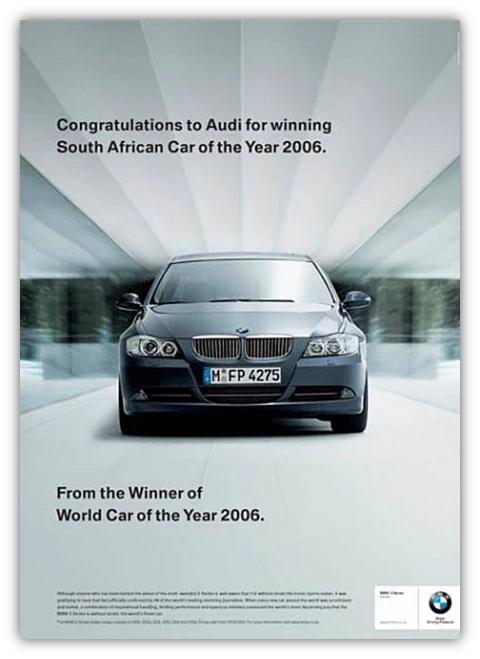 Bmw'nin Audi'ye açmış olduğu marka savaşı