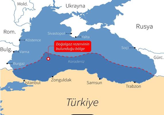 Türkiye'nin doğalgaz bulduğu bölge