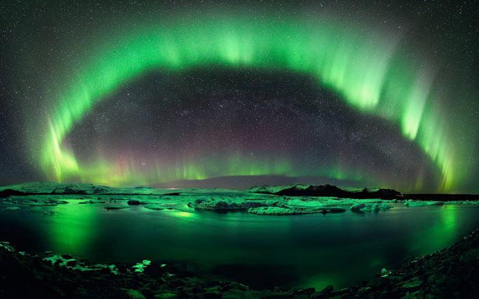 aurora borealis kuzey ışıkları rusya