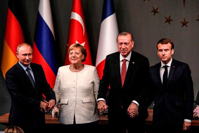 Erdoğan Macron Doğu Akdeniz