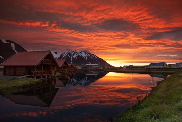 İskandinav buz ülkesi izlanda