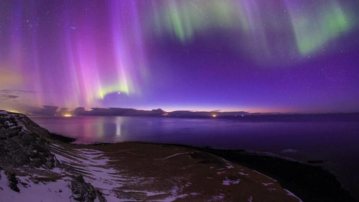 İskandinav ülkesi izlanda kuzey ışıkları