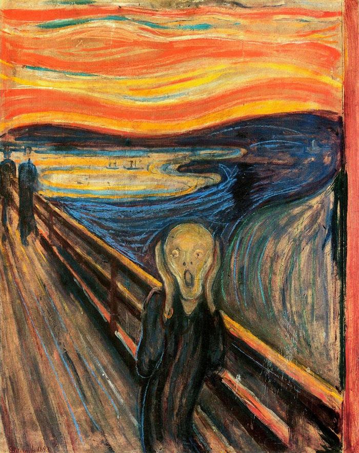 The Scream-Edward Munch  ünlü tablo