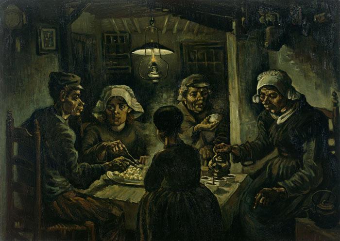 Vincent Van Gogh resimleri; 1885 Patates Yiyenler