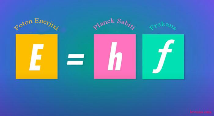 Max Planck denklemi kuantum
