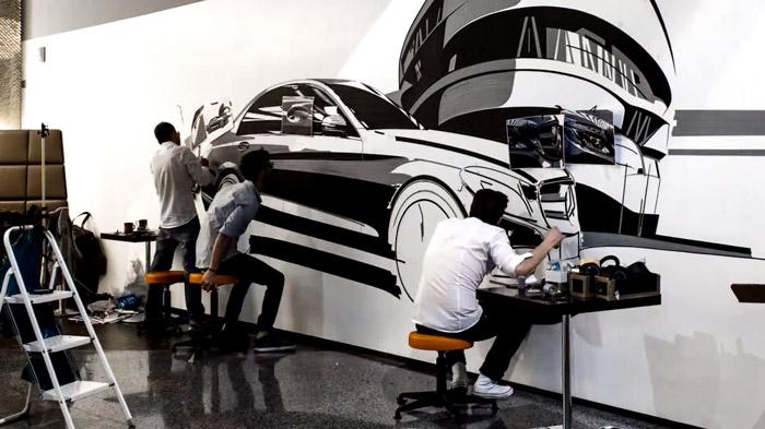 araba tasarımı ve üretim adımları bant çizimi