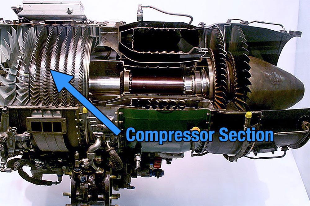 kompresör Jet motoru