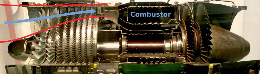 Yanma odası jet motoru